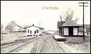 Grantville Train Depot before 1900-1