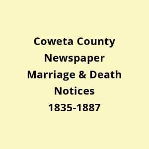 death and marriage in coweta county
