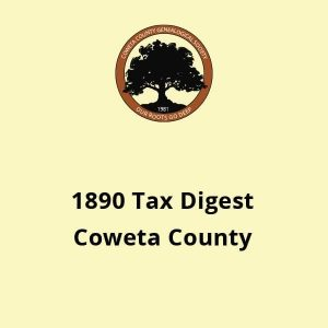 tax digest of coweta county