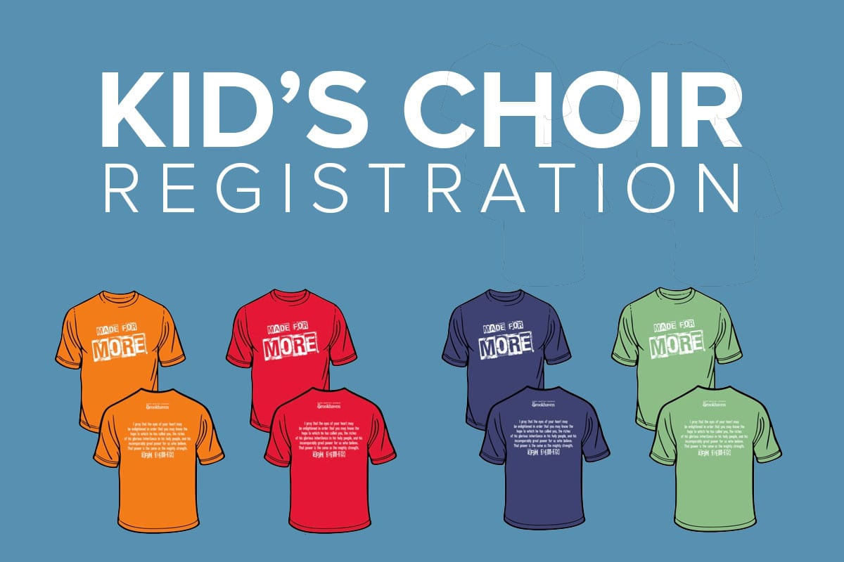 kids choir registration